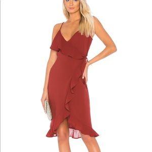 62bd679130 Donna Mizani Kate midi dress is Marsala